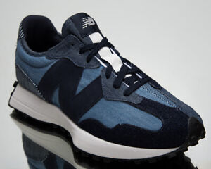 New Balance 327 Denim Men's Eclipse Grey Casual Athletic Lifestyle Sneakers Shoe
