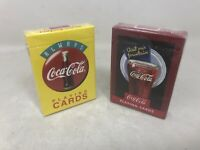 Coca Cola Visit Our Fountain Always Coca Cola  Playing Cards NEW Sealed 2 Decks