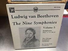 BEETHOVEN Nine Symphonies Volume I 3x LP BOX MHS Direct Metal Mastering SOLTI
