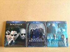 The Matrix trilogy : 3 limited edition steelbook (blu-ray) *BRAND NEW*
