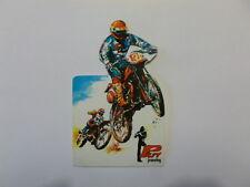VECCHIO ADESIVO ORIGINALE / Old Sticker MOTO MOTOCROSS CROSS TRIAL (cm 7,5 x 12)
