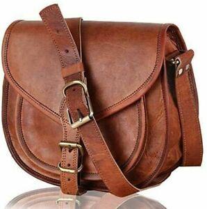 Women Vintage First Choic Leather Crossbody Messenger Purse Handbag Satchel Bag
