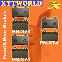 FRONT REAR Brake Pads for YAMAHA XVZ 13 Royal Star Tour 1996-98 1999 2000 2001