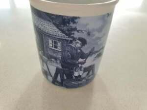 Delft Blue Mug  Coffee Tea  Clog Maker Scene  Never Used