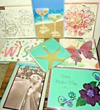 LOT 8 PAPYRUS CARDS MIX BLANK BIRTHDAY WEDDING FLOWERS NATURE