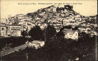 Rocca di Papa Italien alte s/w AK 1912 gelaufen Panorama generale Monte Cavo