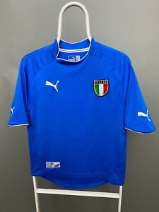 VINTAGE ITALY 2003 2004 PUMA HOME FOOTBALL SHIRT SOCCER JERSEY MAGLIA SIZE S