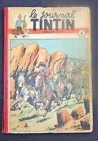 TINTIN album éditeur n°4. Edition belge n°41 de 1947 à 5 de 1948