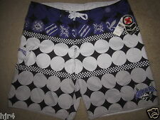 Quiksilver Surfing Board Surf Silver Shorts Mens 40 waist 40w NEW NWT