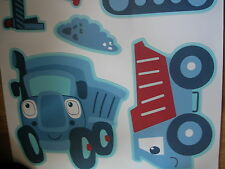 NEXT TRANSPORT CONSTRUCTION VEHICLE 58 WALL STICKERS BOYS GOES BED SET CURTAINS