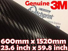 Véritable 3M scotchprint 1080 fibre de carbone cf 12 600mm x 1520 mm noir vinyle wrap