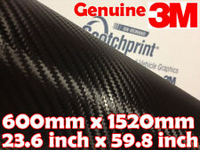 Genuine 3M Scotchprint 1080 Carbon Fibre CF12【600mm x 1520mm】 BLACK Vinyl Wrap