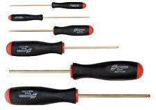 6pc Set Hex Ball Driver ScrewDrivers 1.5 - 10mm GoldGuard™ Bondhus USA 38686