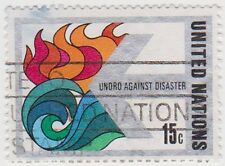 (UN164) 1979 United Nations 15c Fire & Flood ow317