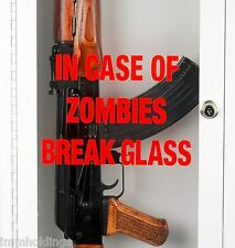 Zombie / Emergency Break Glass Gun Cabinet – Display Case - Wall Mountable