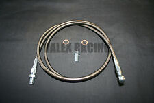 90-93 Honda Accord Gunmetal Stainless Steel Clutch Hose Replacement Line CB