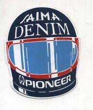 Adesivo Formula 1 OSELLA CASCO SAIMA DENIM PIONEER sponsor sticker F1 anni 80