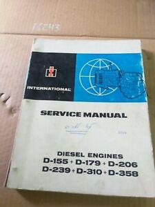 USED TRACTOR DIESL ENGINE d155 d179 d206 d239 d310 d358 SERVICE MANUAL