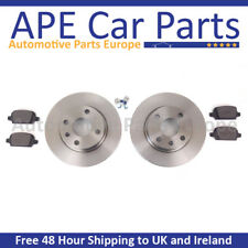 Renault Grand Scenic 1.2 TCe 1.4 TCe 1.6VVT 09-17 Plain Front Brake Discs & Pads