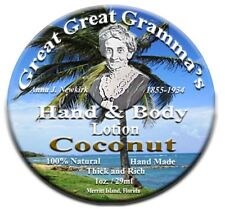 Coconut scent - Hand & Body Lotion - Old Fashioned Thick, RIch & Vitamin full