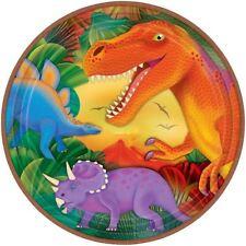 8pk placche metalliche Festa Preistorica 22.8cm Dinosauri Festa Di Compleanno Stoviglie