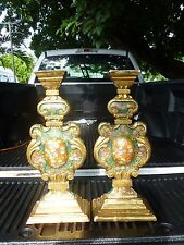 BEAUTIFUL ANTIQUE ITALIAN GOLD GILT AND POLYCHROMED ALTAR WOOD APPLIQUES