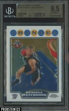 2008-09 Topps Chrome Russell Westbrook Thunder RC Rookie BGS 9.5 w/ 10