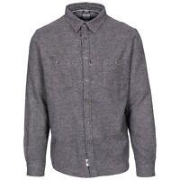 Trespass Buddworthwas Mens Cotton Long Sleeve Casual Shirt