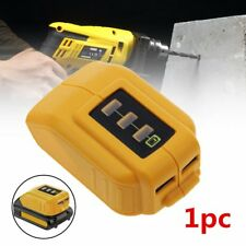 DCB090 091 FOR DEWALT LITHIUM SLIDE BATTERY USB CONVERTER ADAPTER POWER CHARGER
