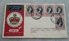 COCO ISLAND - Malaya FDC 1953 Queen Elizabeth Coronation Qantas Fight to London