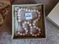 "9-11mm Multi-color Cultured Fw Pearl  .06ctw Sterling Adjustable 18-20"" Necklace"