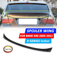 FOR BMW 3 SERIES E90 05-12 REAR TRUNK BOOT LIP LID SPOILER M SPORTS-GLOSSY