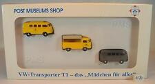 Wiking 1/87 Set 81-02 Postal Museum Shop Edition Vw Transporter t1 Ovp #1082