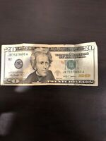 2009 Misprint 20 Dollar Bill