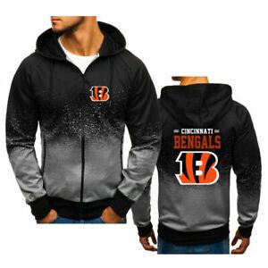 Cincinnati Bengals  Fans Hoodie Splash-Ink Hooded Sweatshirt Sports Jacke