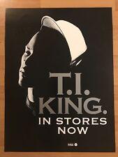 "T.I. King PROMO 18"" x 24"" POSTER Atlanta UGK Migos Outkast Gucci Hip Hop Rap"