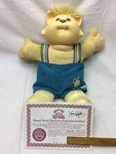 Vintage 1980s Cabbage Patch Kids Doll Anglcake Koosas Xavier Roberts Certificate