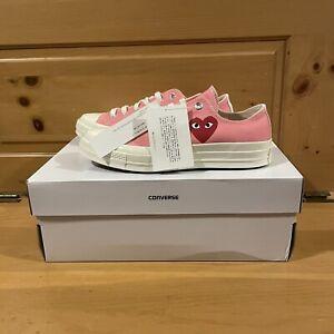 Converse x Comme Des Garcons PLAY Chuck Taylor 70 Low 168304C Pink Shoes Size 7