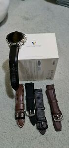 Fossil Garret HR Smartwatch 46mm. LIKE NEW. With a few extra leather straps