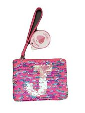 JUSTICE Initial J wrist wallet change purse NWT
