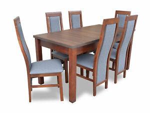 Besprechungstische Bureaux Table de Conférence Bois Tableaux + 6 Chaises