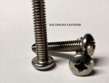 Pan Head Phillips Machine Screws Stainless Steel  #10-24 x 3/4