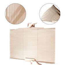 2pc Beige Car Auto SUV Window Glass Pleated Sun Shade Cover Blinds Visor Summer