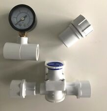 Low PSI Regulator, Gauge, Hose Adapter for Chicken Nipples or Cups Water System