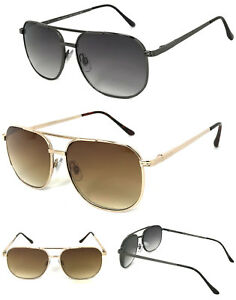 1 or 2 Pairs Pilot Magnified Tinted Full Lens Reading Sunglasses Metal Frame