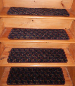 13 Step 9'' x 30'' + 1 Landing 28'' x 30'' Tufted Wool Woven carpet Stair Treads
