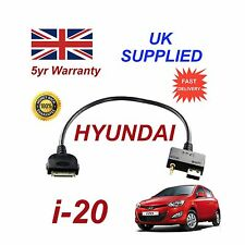 For Hyundai i20 MY2012+ iPhone 3gs 4 4s iPod USB & Aux Audio Cable