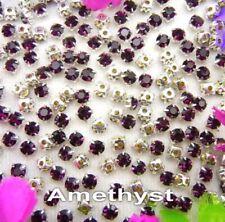 5mm Sew On Crystal Rhinestones 100 pcs SS24 Amethyst Purple Birthstone February