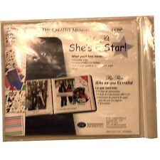 "CREATIVE MEMORIES ""She's a star"" SNAP PACK ALBUM KIT PAPER, STICKERS ABC LETTERS"