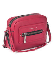 NWT Sanctuary Hero Leather Crossbody Shoulder Handbag RED/Beet Root $168